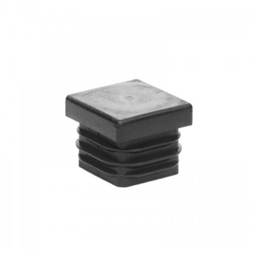 Záslepka profilů panelu CreaZen, čtvercová krytka, 20 x 20 mm, černá, plast, 100 ks