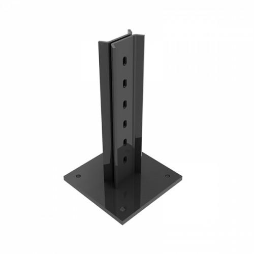 Podstavec pro sloupek Bekafix profil 70 x 44 mm k instalaci na podezdívku, antracit, pozinkovaný, poplastovaný