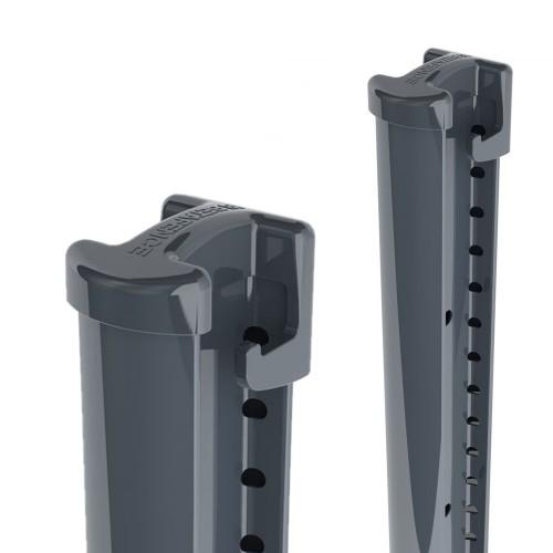 Sloupek Bekafix, výška 2075 mm, na podstavec, antracit, pozinkovaný, poplastovaný
