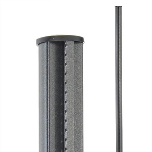 Sloupek Bekaclip, výška 2000 mm, kruhový profil Ø 48 mm, antracit, pozinkovaný, poplastovaný