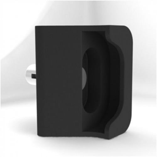 Západka branky Zenturo, černá, plast