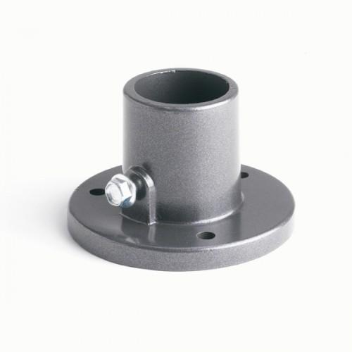 Podstavec pro sloupek Bekaclip profil Ø 48 mm k instalaci na podezdívku, antracit, pozinkovaný, poplastovaný