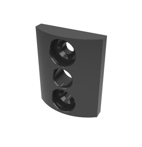 Redukce pro branky Zenturo / Fortinet, černá, plast, 2 ks